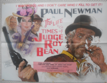 Life and Times of Judge Roy Bean, UK Quad Poster, Paul Newman, Ava Gardner, '72
